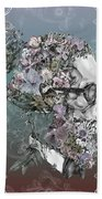 Hipster Floral Skull 2 Beach Towel