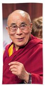 His Holiness The 14th Dalai Lama Photo By Christopher Michel 2012 Beach Towel