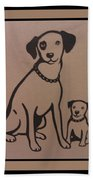 His Masters Voice - Nipper And Chipper Beach Towel