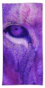 His Royal Eyeness Beach Towel
