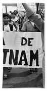Hispanic Anti-viet Nam War March 2 Tucson Arizona 1971 Beach Towel