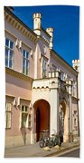 Historic Architecture Of Town Bjelovar Beach Towel