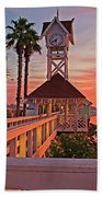 Historic Bridge Street Pier Sunrise Beach Towel