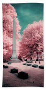 Historic Cemetery In Infrared Beach Towel