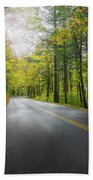 Historic Columbia River Highway In Fall Beach Sheet