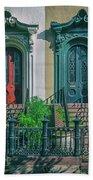 Historic Doors Of Charleston On Bull St Beach Towel