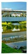 Historic Halls Mill Bridge Reflections Beach Towel