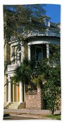 Historic Houses In A City, Charleston Beach Towel