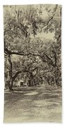 Historic Lane Antique Sepia Beach Towel
