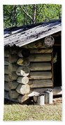 Historic Log Trappers Cabin Beach Towel