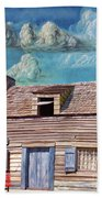 Historic Wooden School House  Beach Towel