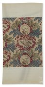 Historical Printed Textile Beach Towel