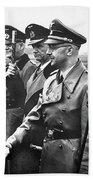 Hitler Shaking Hands With Heinrich Himmler Unknown Date Or Location Beach Towel
