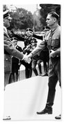Hitler Shaking Hands With Rudolf Hess Circa 1935 Beach Towel