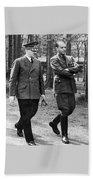 Hitler Strolling With Albert Speer Unknown Date Or Location Beach Towel
