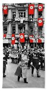Hitler With Goering And Himmler Marching In Munich Germany C.1934-2016  Beach Towel