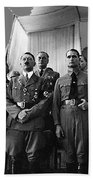 Hitler With Nazi Party Bigwigs Julius Streicher On Far Right C. 1935 Color Added 2016 Beach Towel