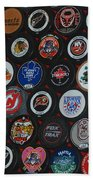 Hockey Pucks Beach Towel
