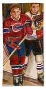 Hockey Stars At The Forum Beach Sheet