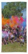 Holi Festival Beach Towel