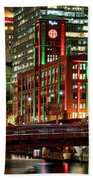 Holiday Colors Along Chicago River Beach Towel