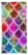 Holiday Colors - Christmas Pattern Beach Towel