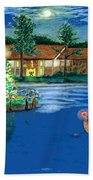 Holiday Delivery At Whisper Lake  Beach Towel