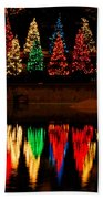 Holiday Evergreen Reflections Beach Towel