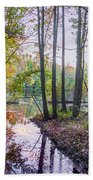 Holiday Park Lake At Dusk Beach Towel