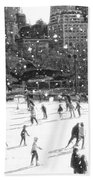 Holiday Skaters Beach Towel