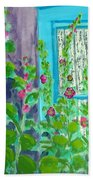 Hollyhock Surprise Beach Towel