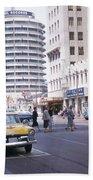 Hollywood And Vine California 1956 Beach Towel
