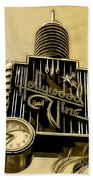 Hollywood And Vine Street Sign Collection Beach Towel