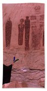 Holy Ghost Petroglyph Into The Mystic Beach Towel