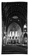 Holy Name Cathedral Chicago Bw 04 Beach Towel