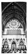 Holy Name Cathedral Chicago Bw 06 Beach Towel