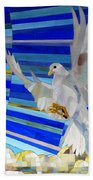 Holy Spirit Dove Beach Towel