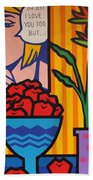 Homage To Lichtenstein And Wesselmann Beach Towel