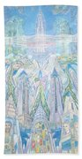 Homage To New York And The Chrysler Building Beach Towel