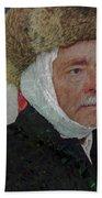 Homage To Van Gogh Selfie Beach Sheet