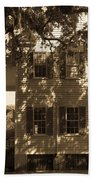 Mcleod Plantation Home In Black And White Beach Towel