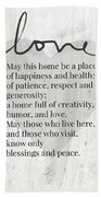 Home Blessing Rustic- Art By Linda Woods Beach Towel