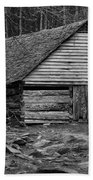 Home In The Woods Bw Beach Towel