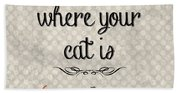 Home Is Where Your Cat Is-jp3040 Beach Towel