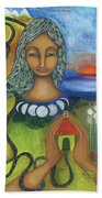 Home Is Where Your Heart Is Beach Towel by Prerna Poojara