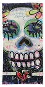 Home Is Wherever I Am With You An Abstract Skull Painting About Love Beach Towel
