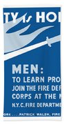 Home Safety Is Home Defense Beach Towel by War Is Hell Store