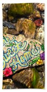Home Sweet Home Mosaic Beach Towel