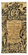 Homer Title Page, 1616 Beach Towel