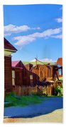 Homes Of The Past Beach Towel